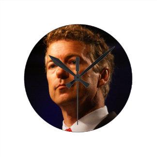 Senador Rand Paul Profile Portrait Reloj De Pared