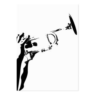 Señal abstracta de la trompeta del jazz plantilla de tarjeta personal
