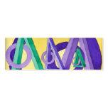 Señal abstracta de los triángulos tarjetas de visita