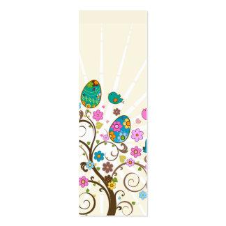 Señal abstracta feliz de Pascua Tarjetas De Negocios