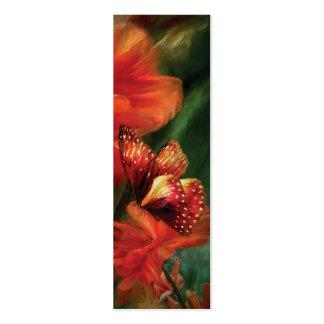 Señal alta del arte de las amapolas plantilla de tarjeta personal