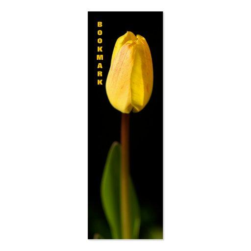 Señal amarilla del tulipán tarjetas de visita mini
