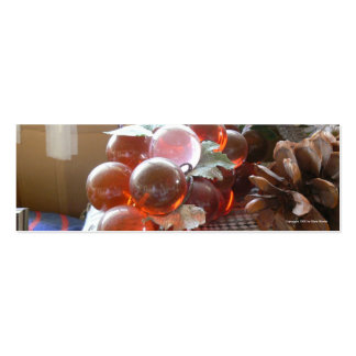 Señal ambarina de las uvas plantillas de tarjetas personales