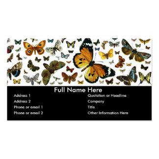 Señal anticuaria de la imagen de las mariposas tarjetas de visita