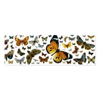 Señal anticuaria de la imagen de las mariposas tarjetas de visita mini