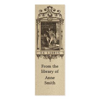 Señal antigua del ejemplo tarjetas de visita