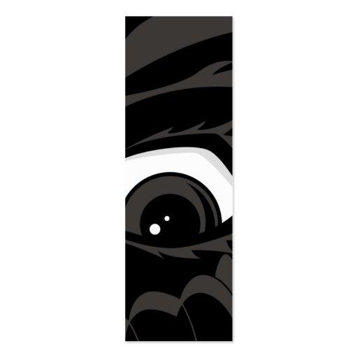 Señal asustada del muchacho plantilla de tarjeta de negocio