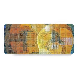 """Señal azul anaranjada abstracta de la guitarra invitación 4"""" x 9.25"""""""