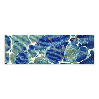 Señal azul del mármol del batik del libro de tarjetas de visita mini