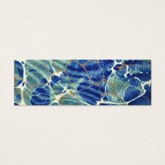 Señal azul del mármol del batik del libro de tarjeta de visita pequeña