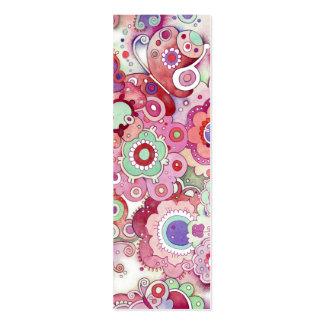 Señal banal floral plantilla de tarjeta de visita