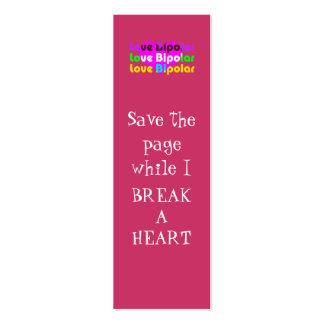 señal bipolar del amor tarjetas de visita mini