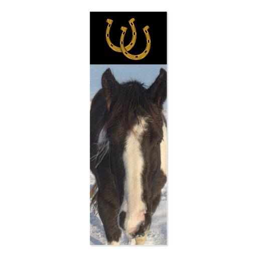 SEÑAL - caballo Tarjeta De Visita