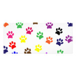Señal colorida de la diversión del mascota del per tarjetas publicitarias a todo color
