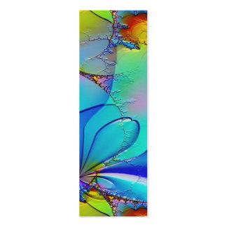 Señal colorida del arte abstracto tarjetas de visita mini