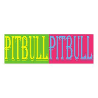 señal colorida del pitbull tarjetas de visita mini