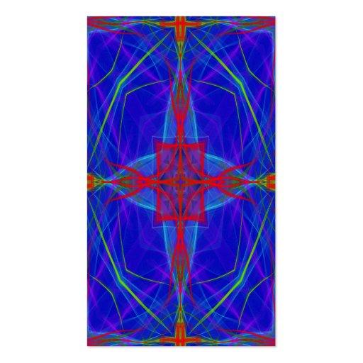 señal cruzada azul tarjetas de visita