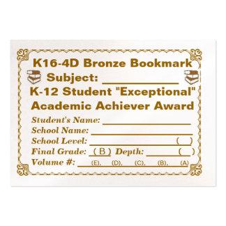 Señal de bronce de K16-4D -- Todos los temas -- 10 Tarjetas De Visita