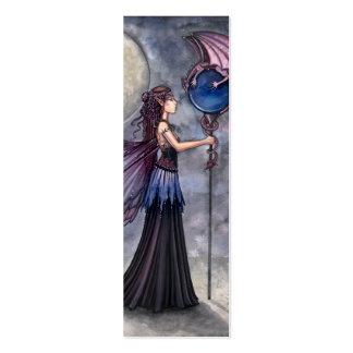 Señal de hadas del dragón por Molly Harrison Tarjetas De Visita Mini