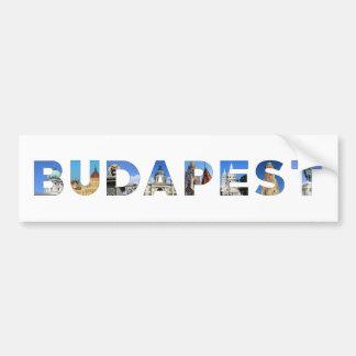 señal de Hungría de la ciudad de Budapest dentro Pegatina Para Auto
