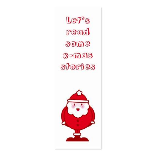 Señal de Kawaii Santa Tarjeta Personal
