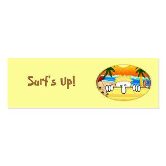 Señal de Kilroy de la persona que practica surf Plantillas De Tarjetas Personales