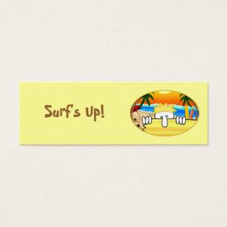 Señal de Kilroy de la persona que practica surf Tarjetas De Visita Mini