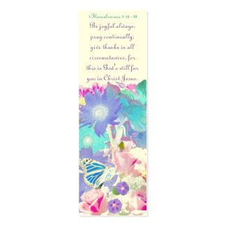 Señal de la alegría del rezo y de la acción de gr tarjetas de visita