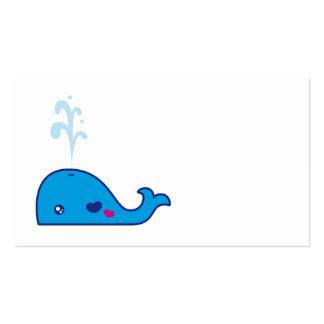 Señal de la ballena de Kawaii Tarjeta Personal