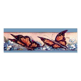 Señal de la barra de la mariposa plantillas de tarjetas de visita