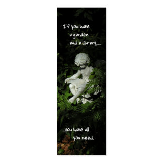 Señal de la biblioteca del jardín tarjetas de visita mini