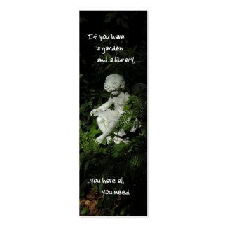 Señal de la biblioteca del jardín tarjeta personal