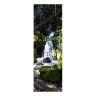 señal de la cascada plantilla de tarjeta de visita