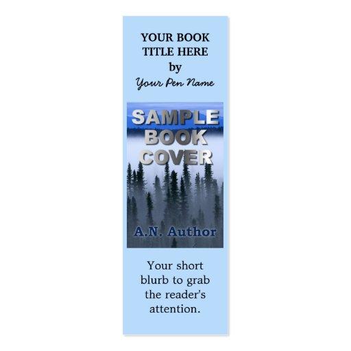 Señal de la cubierta de libro de la promoción del tarjeta de visita