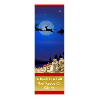 Señal de la familia de Santa y del muñeco de nieve Tarjetas De Negocios