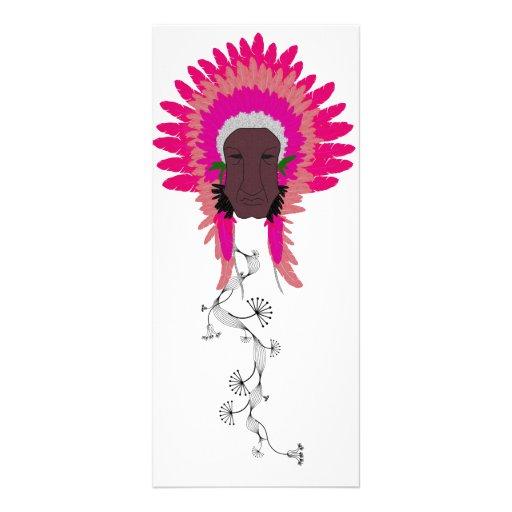 señal de la flor de papel del jefe indio del vinta lona personalizada
