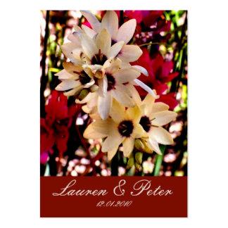 Señal de la flor roja y blanca (personalizable) tarjetas de visita grandes