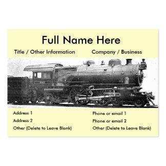 Señal de la fotografía del ferrocarril del vintage tarjeta de negocio