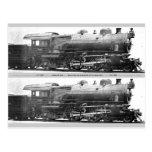 Señal de la fotografía del ferrocarril del vintage postal