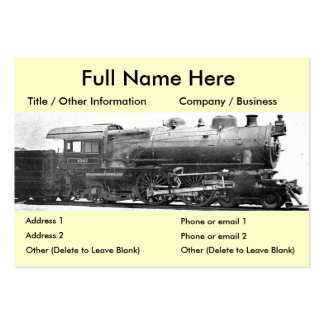 Señal de la fotografía del ferrocarril del vintage tarjetas de visita grandes