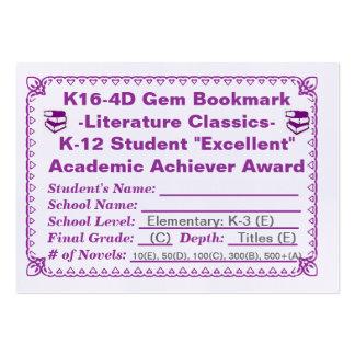 Señal de la gema de K16-4D - obras clásicas 100ct  Tarjeta De Negocio