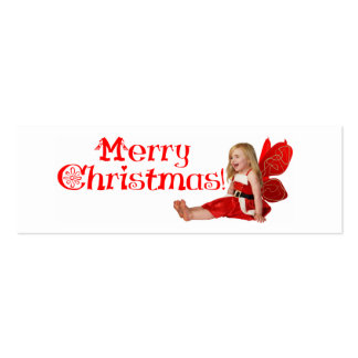 Señal de la hada del navidad tarjetas de visita mini