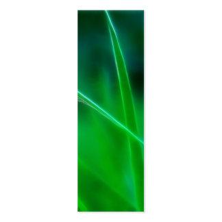 Señal de la hierba verde tarjetas de visita mini