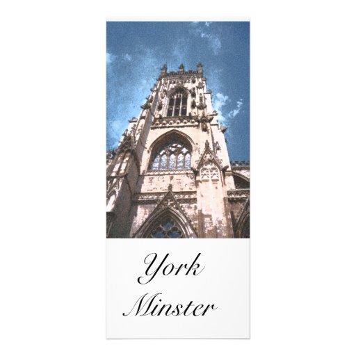 Señal de la iglesia de monasterio c de York Tarjeta Publicitaria Personalizada