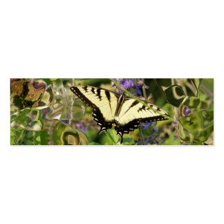 Señal de la imaginación de la mariposa tarjeta de visita