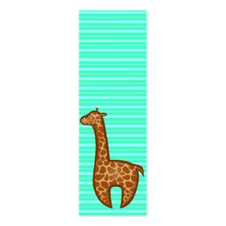 Señal de la jirafa de Chibi Tarjetas De Visita Mini