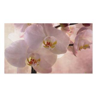 Señal de la orquídea tarjetas de visita