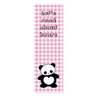 Señal de la panda de Kawaii Tarjetas De Visita