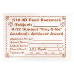 Señal de la perla de K16-4D - todos los temas 100c Plantilla De Tarjeta De Negocio