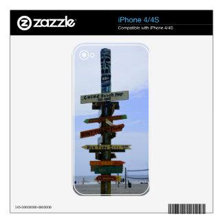 Señal de la playa del cacao skins para eliPhone 4S